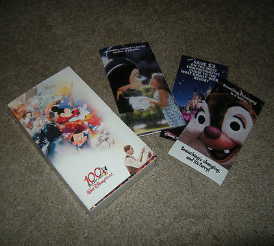 Walt Disney World 100 Years Of Magic Vacation Planning Packet VHS Planner 2001