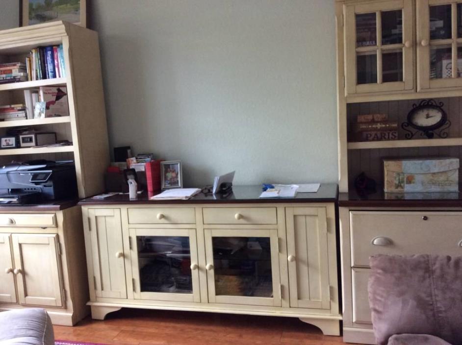 Relocation Sale: 5 Piece Book Shelve & Credenza
