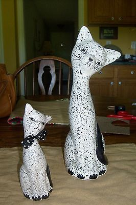 Spatter cats!  Perfect companions; cat, kitten figurines