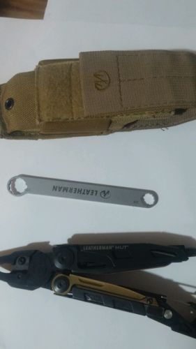 Leatherman Mut EOD Black Tactical tool with Brown Mole sheath