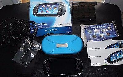 Playstation Vita ( wifi ) + (Lot of 2) 4gb ps vita cards + case + original box