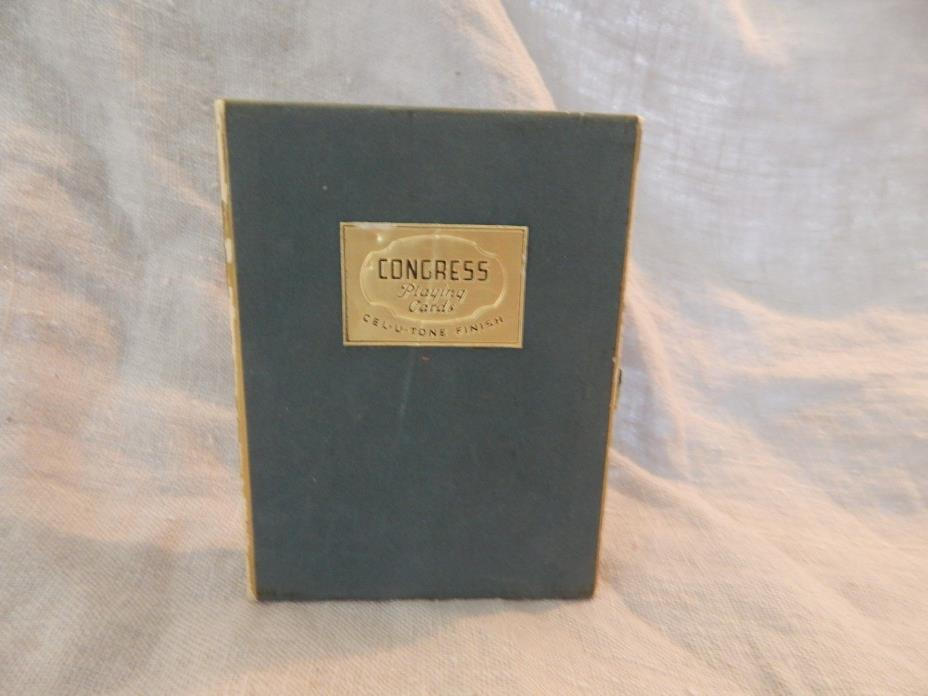 Vintage Double Deck Congress Playing Cards Bridge Tax Stamp