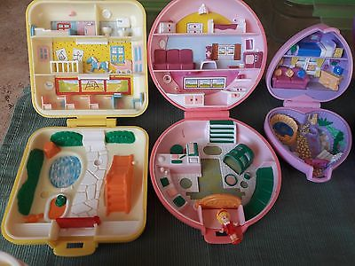 Polly Pockets Vintage Used Miscellaneous Characters and Doll Collection