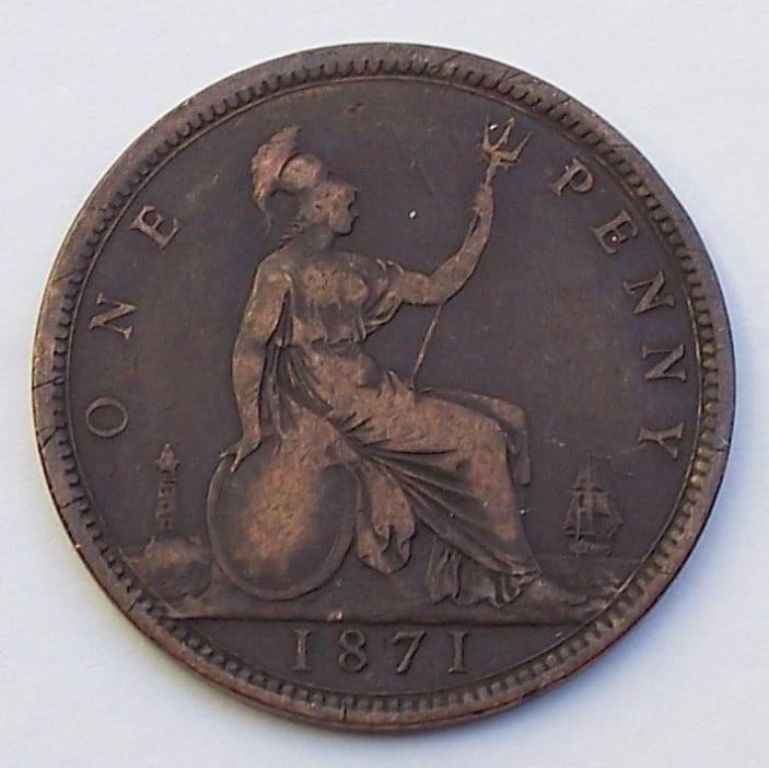 Great Britain 1 Penny 1871