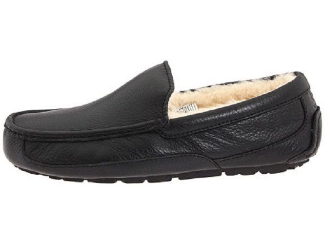 UGG Aus Men's Ascot Leather Slipper Size 12