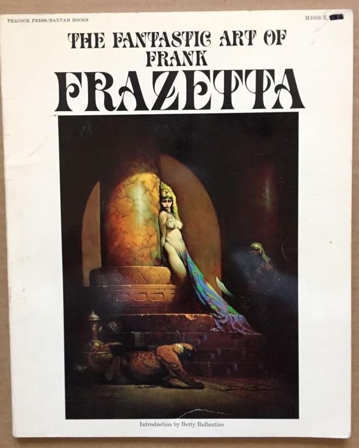 Vintage Original 1977 Frank Frazetta 'The Fantastic Art Of Frank' Book One