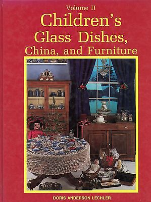 Antique Children's Toy China Pottery Glass Dishes Furniture / Book + Values