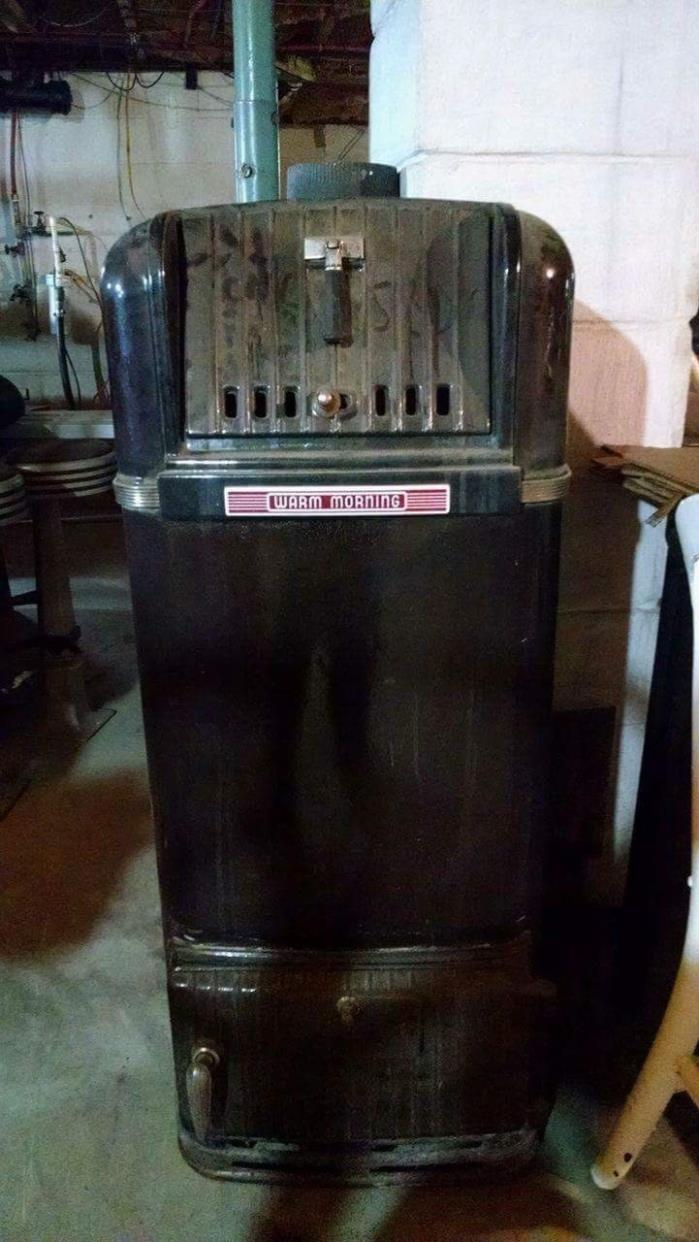 Antique Wood or Coal Burning Heater Stove