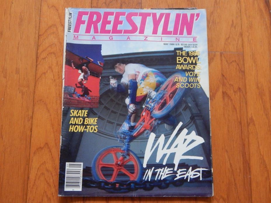 Freestylin' Magazine, May 1986 - Vintage 1980s BMX