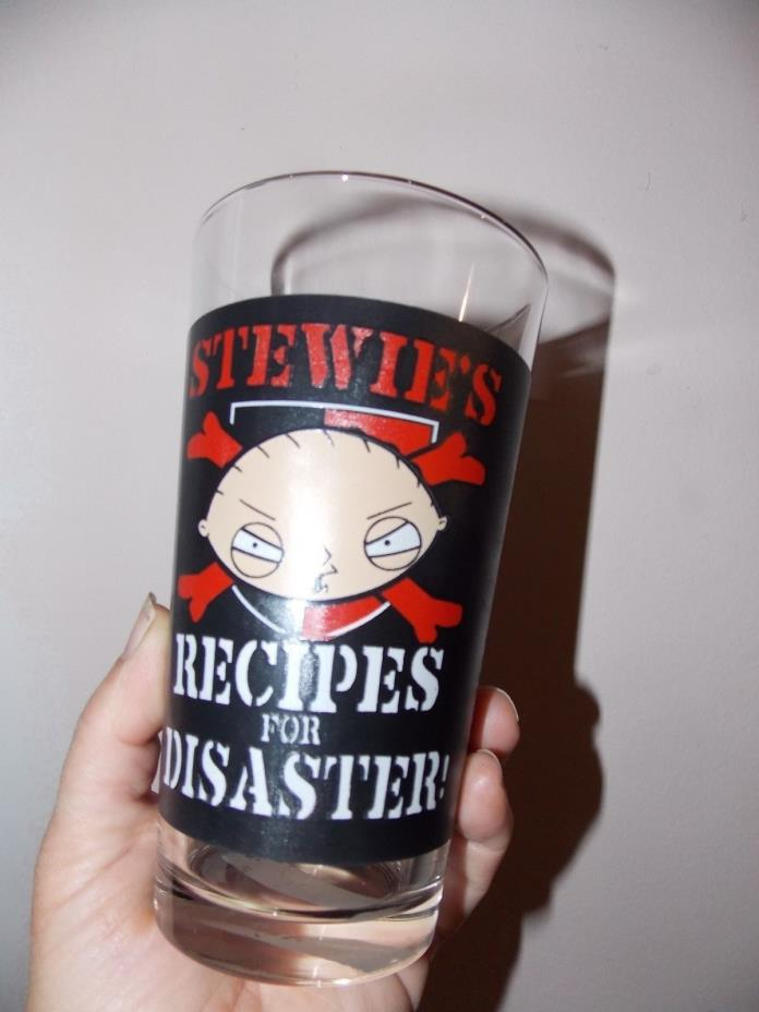FAMILY GUY Official Pint 16 oz Drinking Glass stewies recipes for disaster