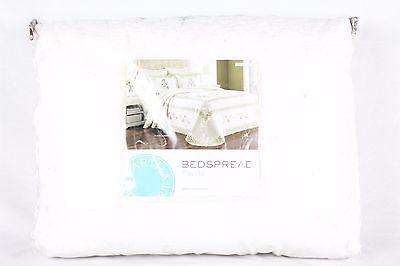 Martha Stewart Collection Abbey Garden Twin Bedspread White W1887