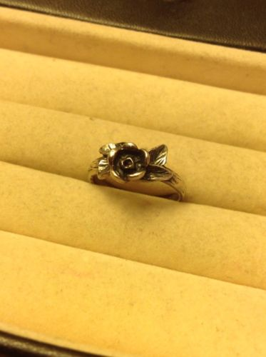Vintage Southwestern Rose Sterling Silver 925 Ring 2.9 Grams Size 6 3/4