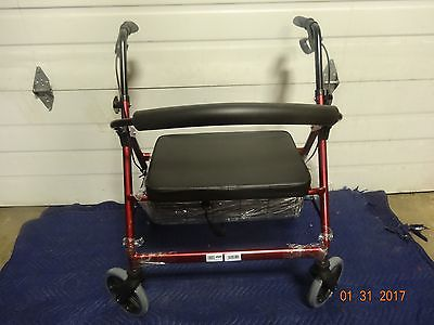 Healthline Trading Bariatric Rollator Walker Heavy Duty with Large Padded Seat