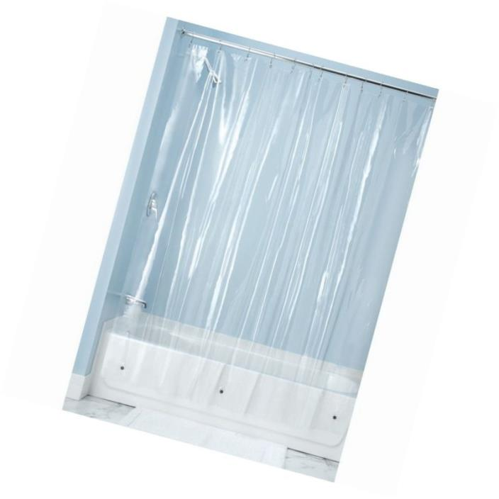 Extra long clear shower curtain