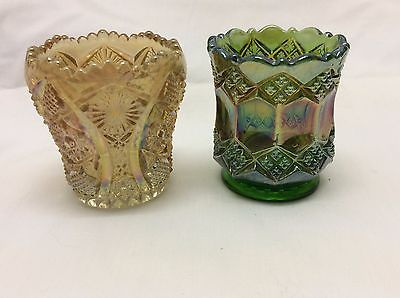 2 Imperial Carnival Glass Toothpick Holders