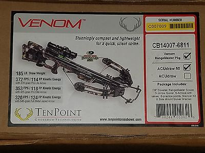 TenPoint Venom Crossbow Rangemaster Package w/Accudraw 50 Brand New
