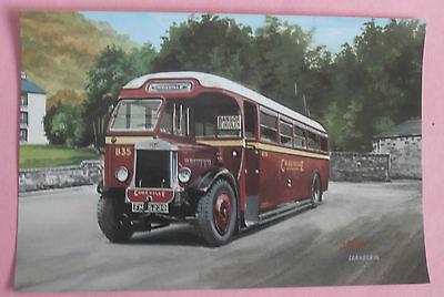 Crossville Motor Services B35 - UK NEW Bus Postcard