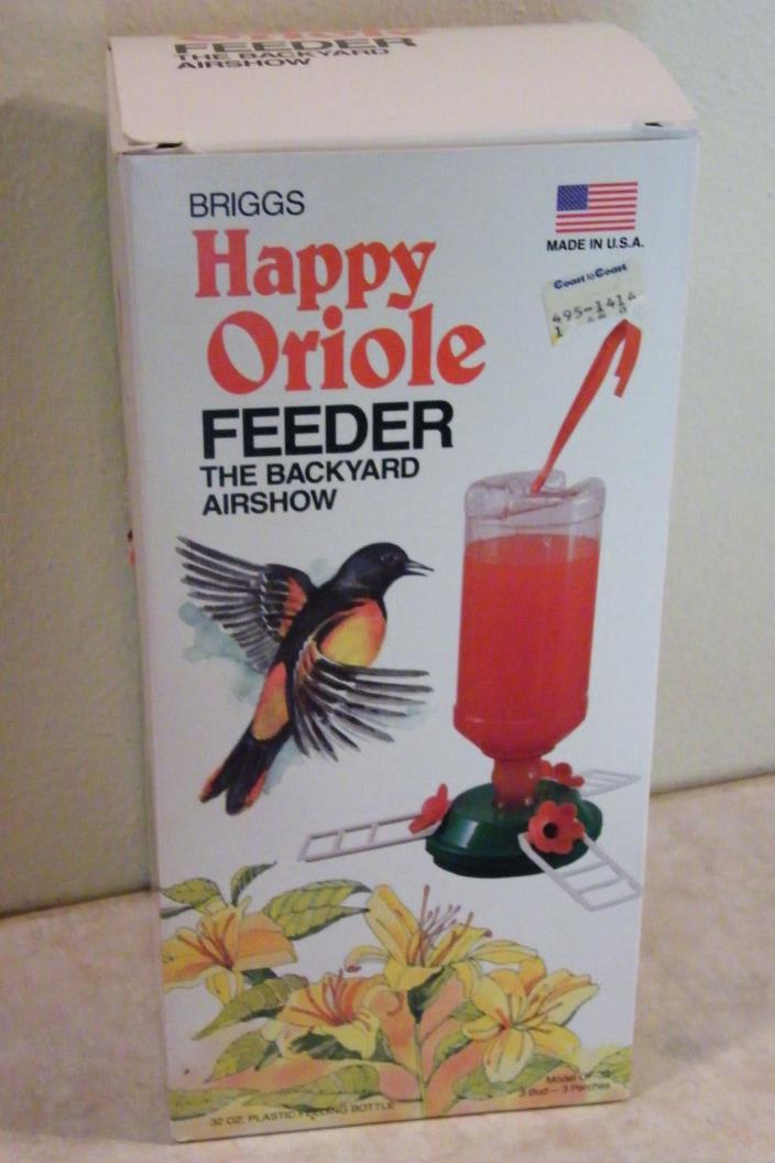 ORIOLE BIRD FEEDER Nectar Feeder Holds 32 oz PLASTIC Made USA 10