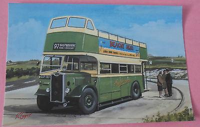 Southdown - 97 Eastborne  UK NEW Bus Postcard