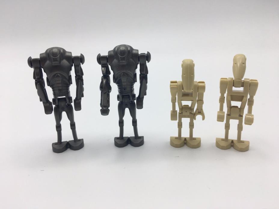 Lot of 3 LEGO Star Wars Battle Droid squad 7748 75086 9519 75058 Minifigures BD1