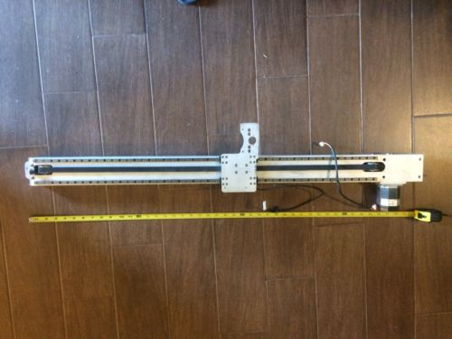 CNC Router Rail with Stepper Motor & um Sensor following a Guide Strip