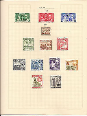 MALTA. SIX SHEETS OF MINT & USED STAMPS.