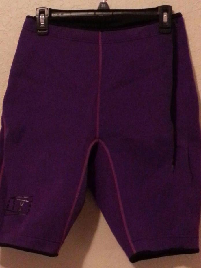 Nike Women's Size XL Aqua Gear Shorts  Purple Wetsuit Surf Scuba Shorts Neoprene
