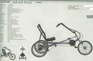 Sun z3ax trike 24 speed