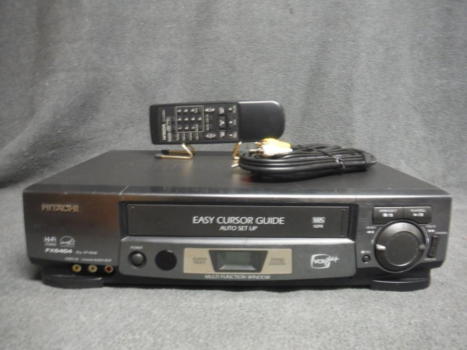 Hitachi FX6404 VCR With Remote Fully Refurbished and Tested.