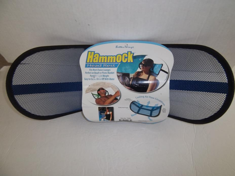 Mesh Better Things Hammock Chaise Lounge Head Rest