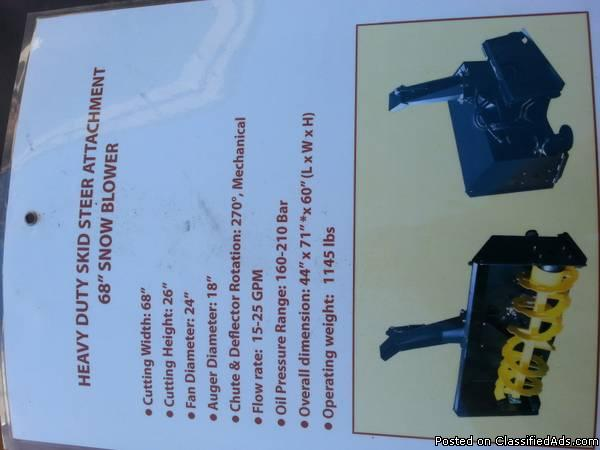 Heavy duty skid steer attachment 68