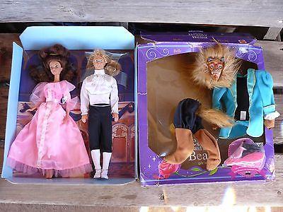 Beauty and the Beast Barbie Set - Disney Classics Mattel 1622 - Belle & Beast