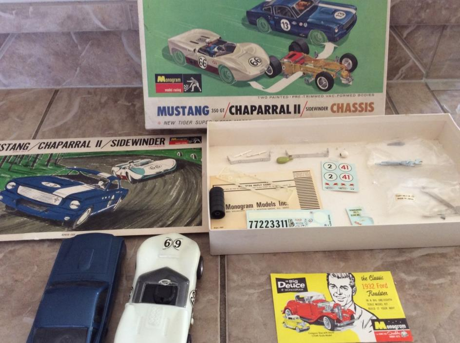 1/24 MONOGRAM MUSTANG 350GT CHAPARRAL 2 SLOT CAR KIT