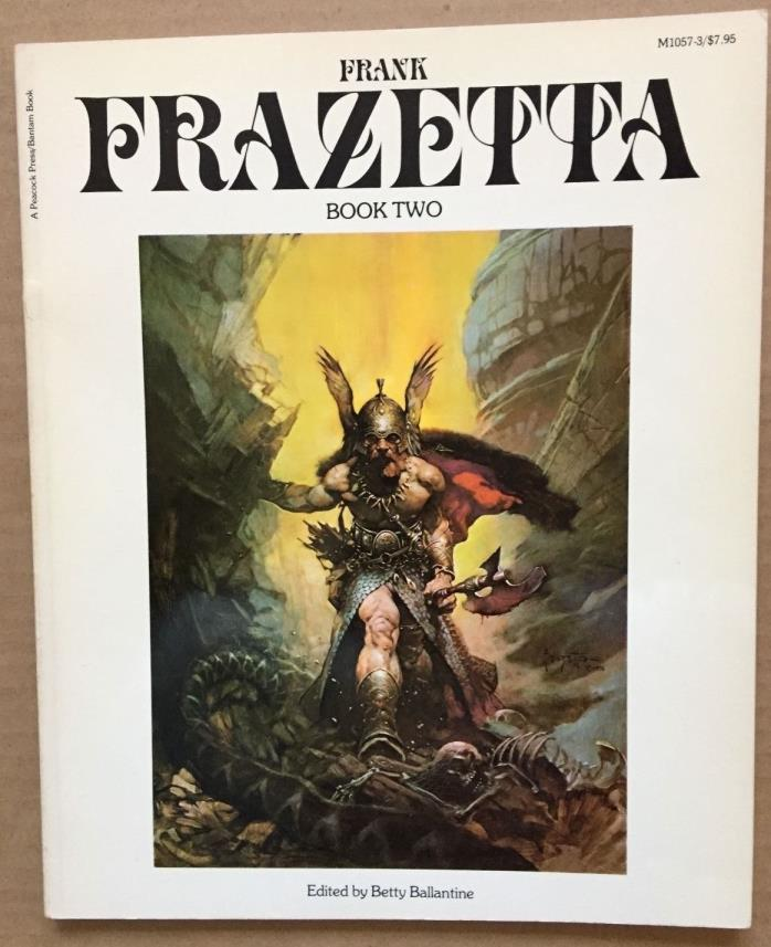Vintage Original 1977 Frank Frazetta 'The Fantastic Art Of Frank' Book Two
