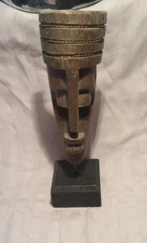 Wooden African mask decor