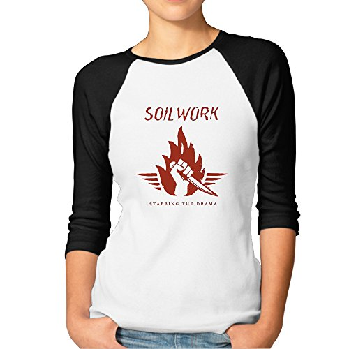 Women's SOILWORK Stabbing The Drama Baseball Jersey T Shirt