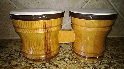 Wood Bongos Drums Hand Drum Musical Instrument Rhythm Medium Select Hardwoods