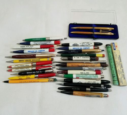 1940s 1950s 1960s vintage pens pencils gas oil mechanical