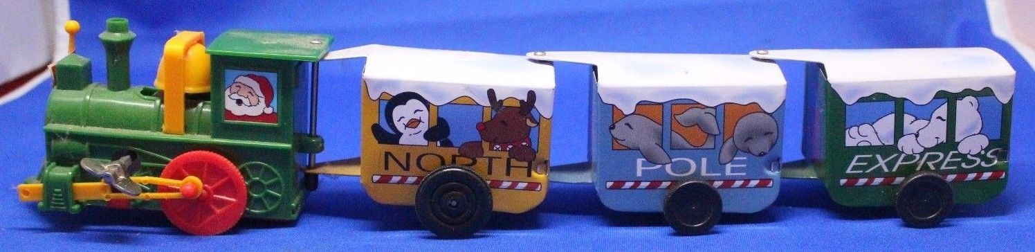 North Pole Express Wind-Up Toy Train