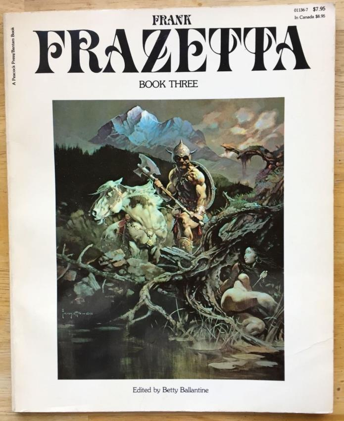 Vintage Original 1979 Frank Frazetta 'The Fantastic Art Of Frank' Book Three