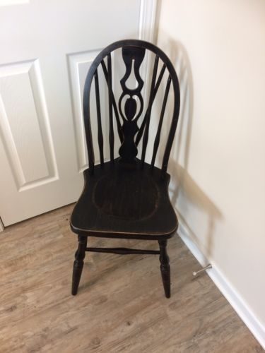 Black Painted Vintage Chair, Cute Accent Chair!
