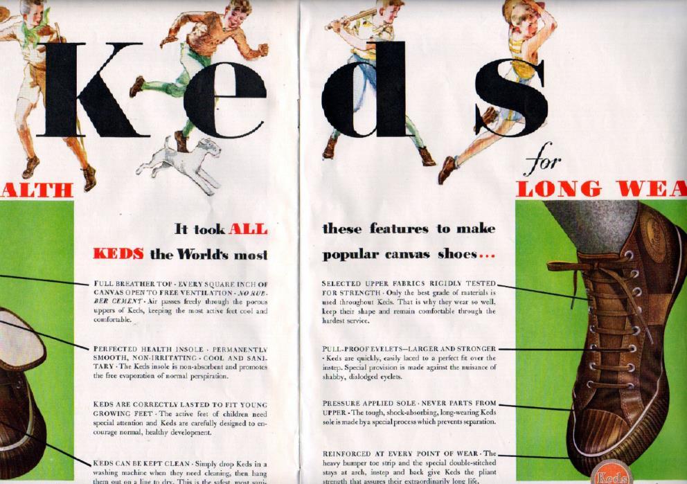 1933 Keds Shoe Ad ---Classic