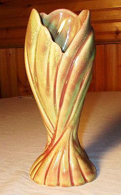 MINTY Vintage West Coast California Mid-Century Art Pottery Vase Deco Nouveau 9
