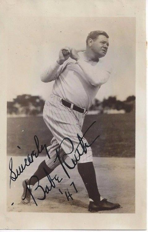 Babe Ruth Autograph Fhoto