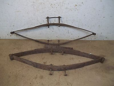 Old Set Seat Springs from Horse drawn Wooden Farm Wagon Lot C