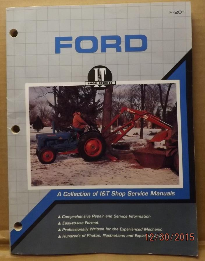 FORD I&T MANUAL COLLECTION IN ONE BOOK TRACTOR 8000 - 9700 TW10 - TW30 MANY MORE