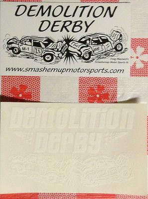 Demolition Demo Derby 12 magnet and 20 decals --- new original old stock