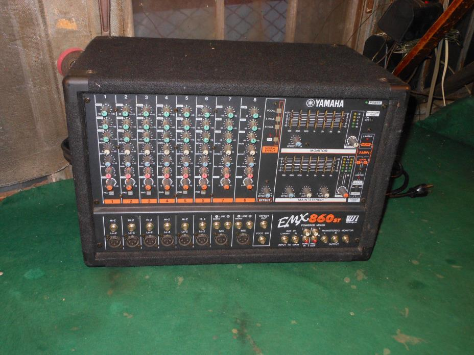 Yamaha EMX860-ST Powered Mixer  600 watts 3 amps 8 Channels Great Power Mixer
