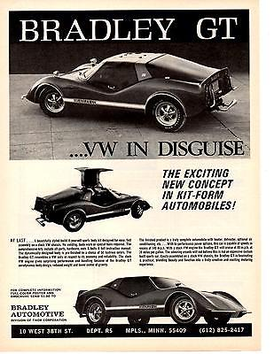 1972 BRADLEY GT SPORTS CAR KIT  ~  NICE ORIGINAL PRINT AD