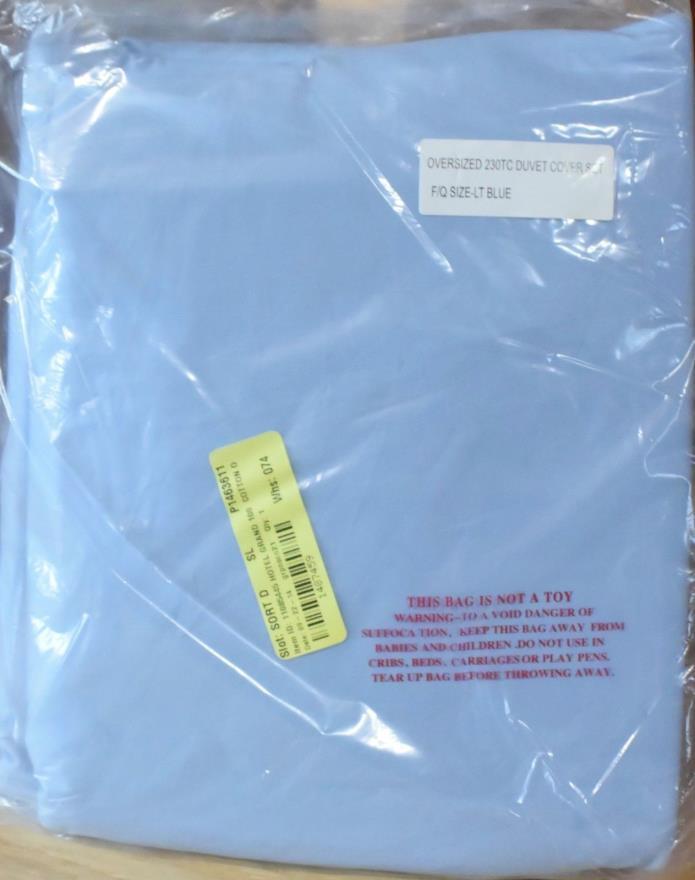 Hotel Grand Egyptian Cotton Duvet Set - Full/Queen - Blue {DR6 961-